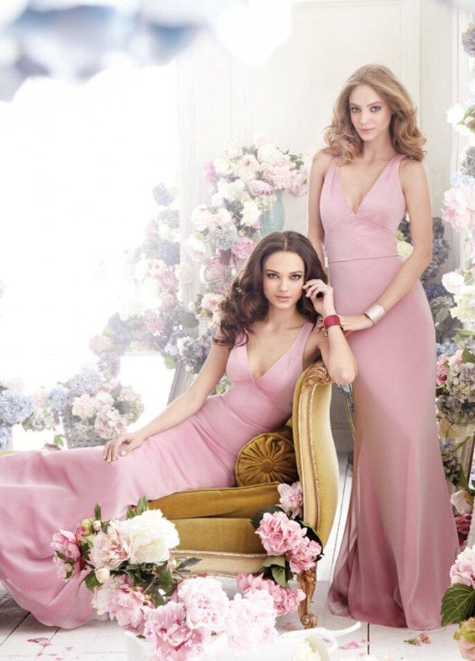 Vestidos de gala en color rosa para damas - Foto Jim Hjelm