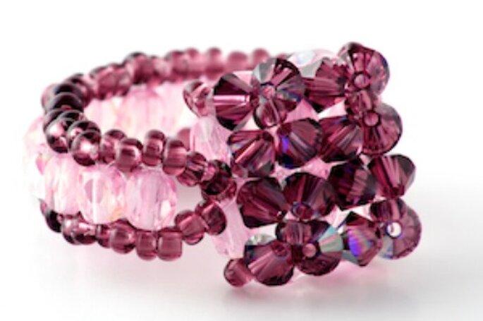 Bague en perles de Swarovski pour un mariage : top chic - Photo : Poésie des Perles