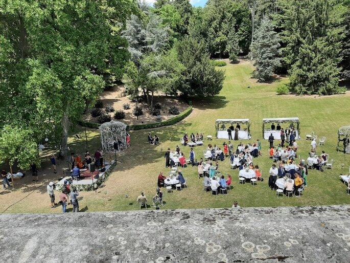 Le grand parc du Château de Gency