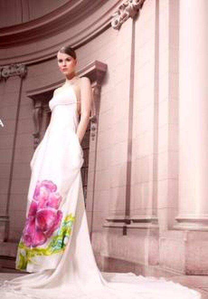 Lujoso Vestido De Novia De Organza De Seda Colección de Imágenes ...