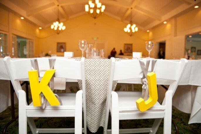 Decoración de boda: la silla de los novios