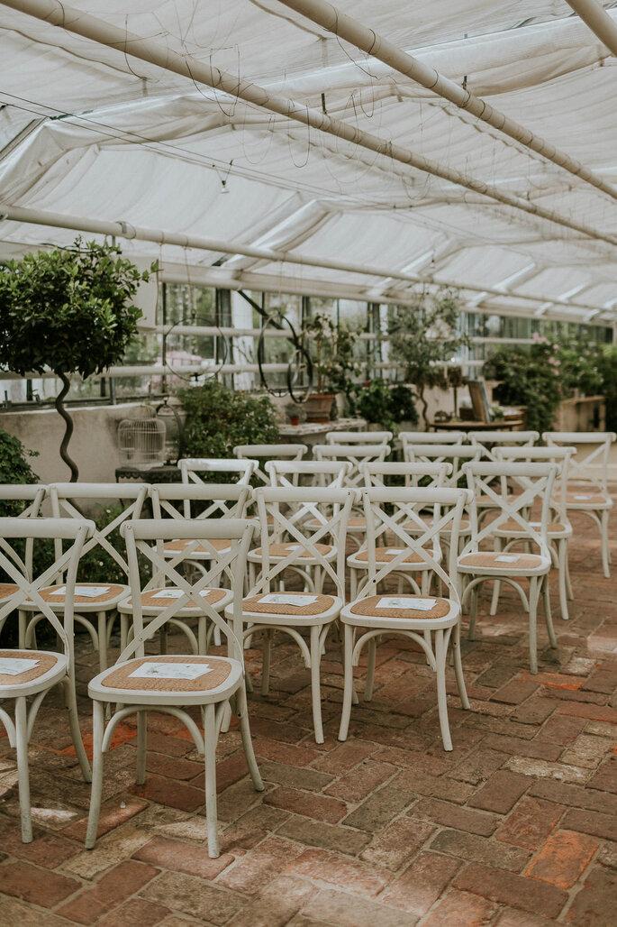 Tiny Wedding im Boho Stil Alte Gärtnerei München freie Trauung Setting