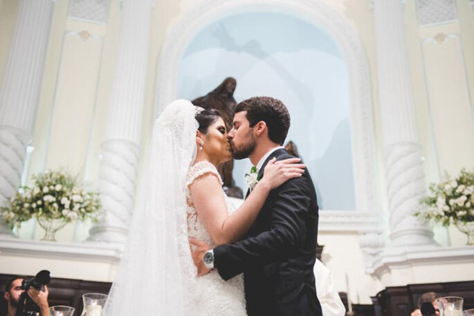beijo na igreja