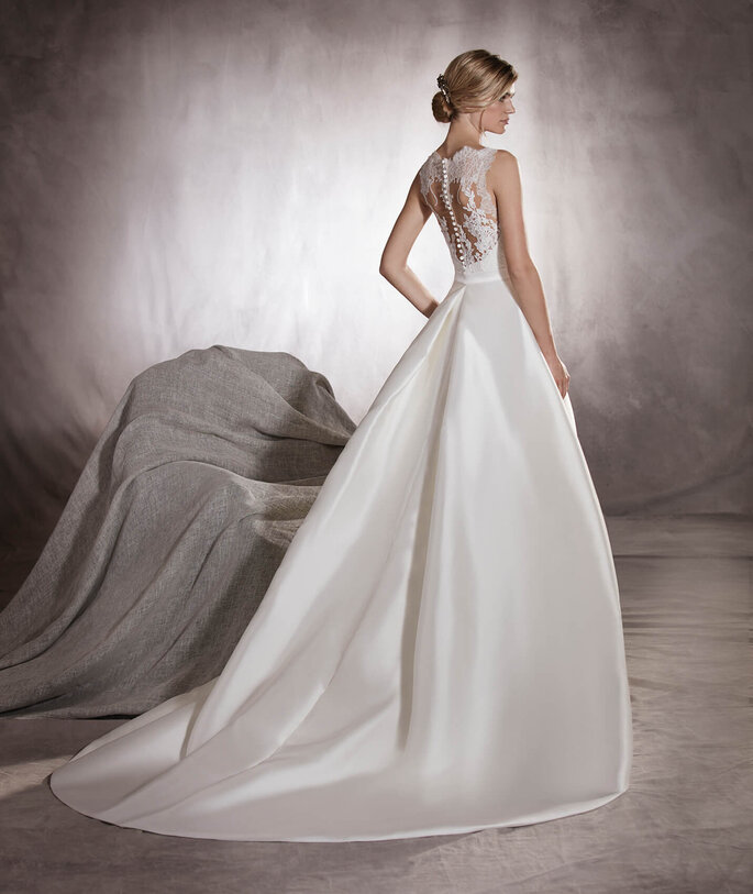 Vestido de noiva mikado