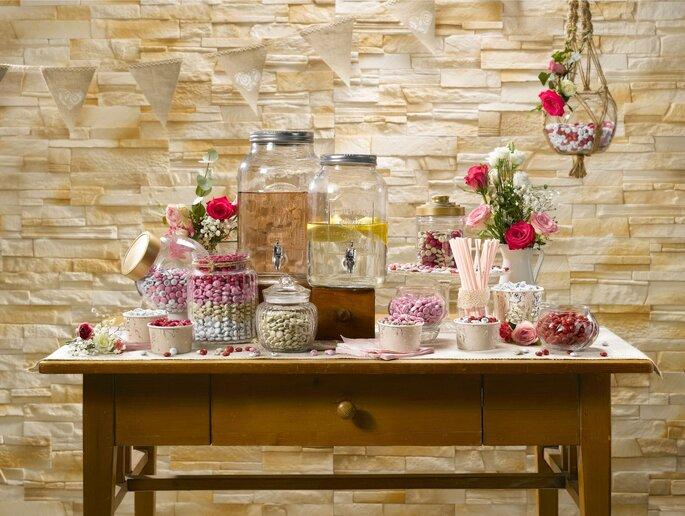 Candybar mit Getränken