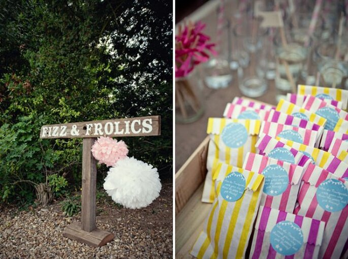Paper decorations for your wedding - Photo: Marianne Taylor Photography