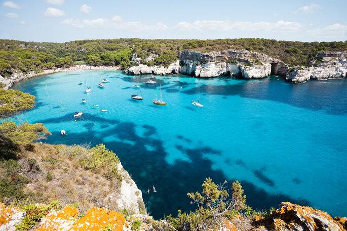 Cala Macarelleta, Menorca, Islas Baleares, España.