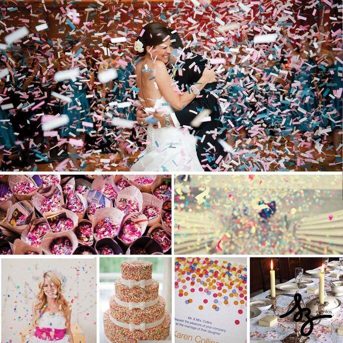 El confeti, tendencia para las bodas 2016