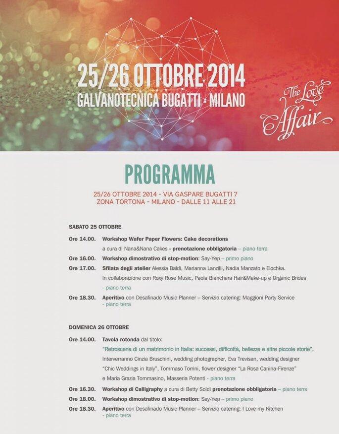 Ecco il programma completo dell'evento