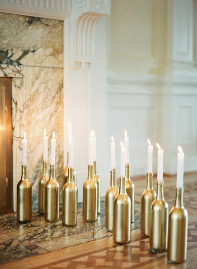 Velas para decoración de bodas
