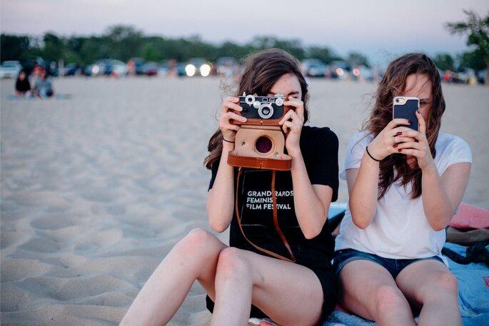verschiedene Arten um zu fotografieren am Strand