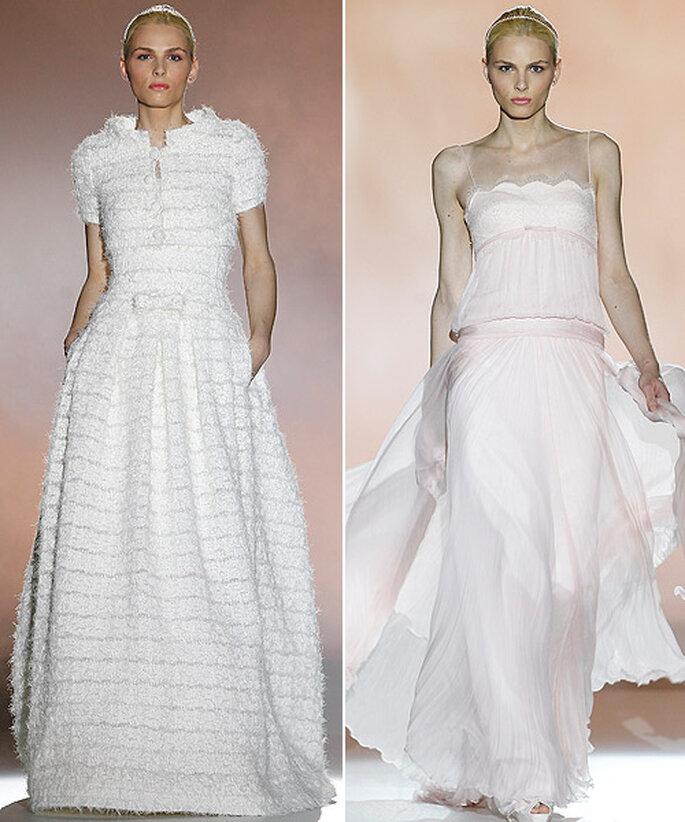 Andrej Pejic ha lucido dos de los vestidos de novia de Rosa Clará. Foto: Barcelona Bridal Week