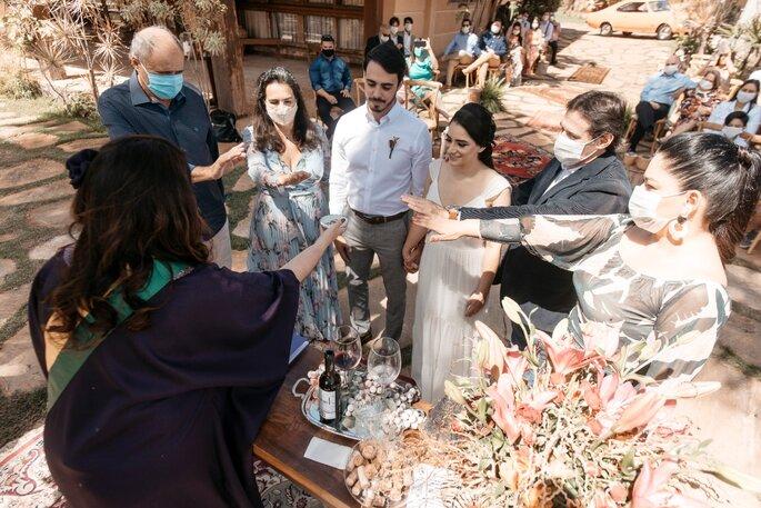 Celebrante e Juiza de Paz Luciana Rocha no casamento civil