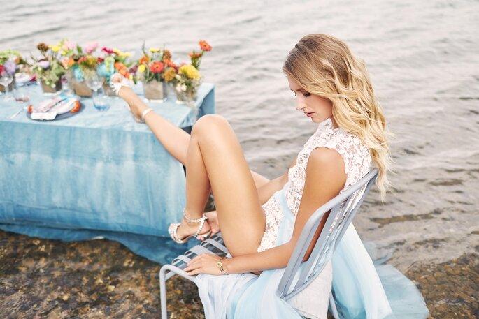 Under water Love Inspirationsshooting Hochzeit Braut