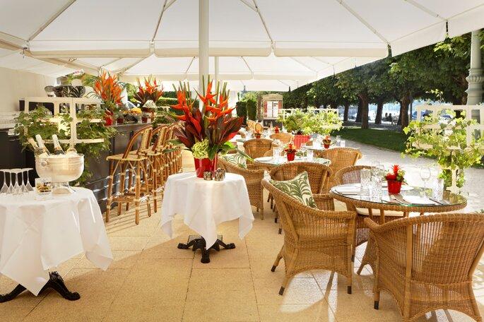 Grand Hotel National Luzern Hochzeit unter freiem Himmel