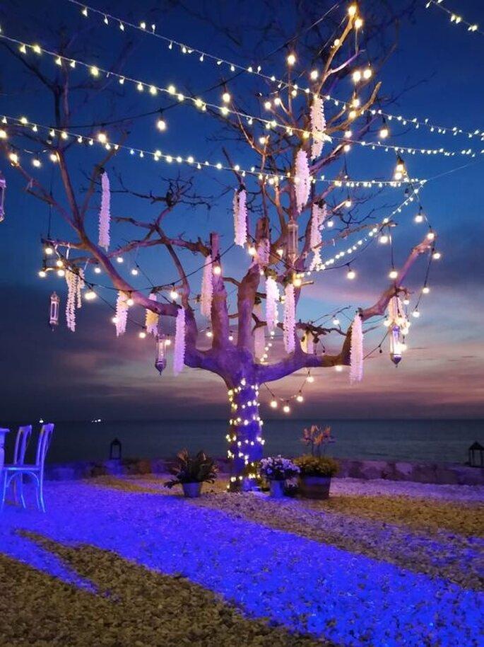 Juan Manuel Wedding Planner decoración boda playa