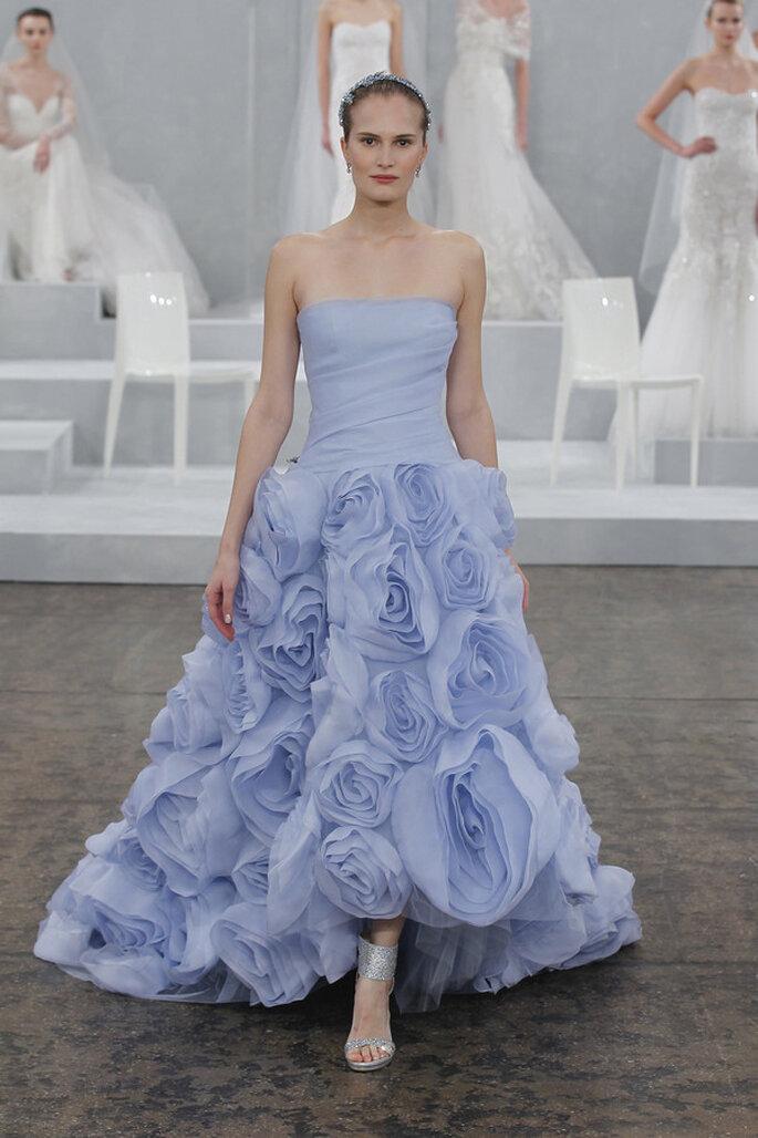 Romántico vestido de novia de Monique Lhuillier 2015