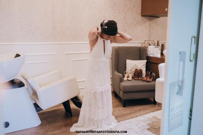 Vestido: Idealizado pela noiva   Foto: Natalia Freitas