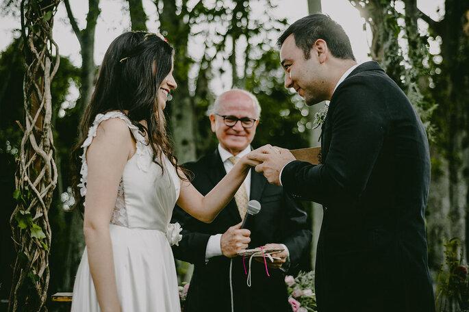 troca de alianças casamento