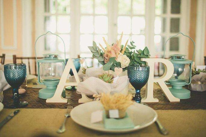 Mesa dos convidados casamento