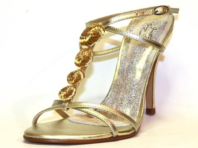 Guetty Sun - sandales en cuir doré