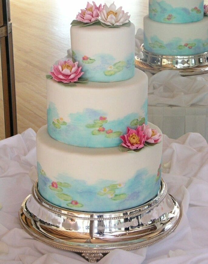 Torta ispirata alle ninfee di Monet realizzata da Gateaux Inc
