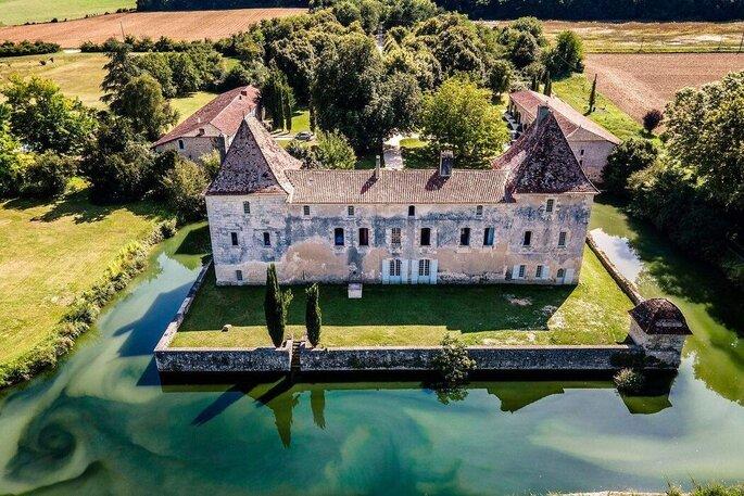 Vue aérienne du Château de La Mothe