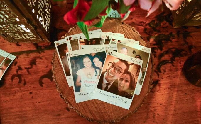 Fotos instantâneas em casamentos