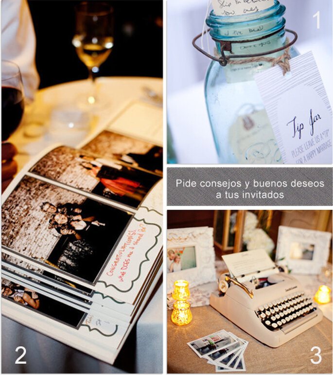 3 ideas para tus dedicatorias de boda. Fotocollage de StyleMePretty
