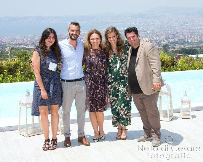Il team Zankyou tra Biagio D'Isernia, Sabrina Sangermani di Vogue Sposa e Armando de Nigris - Foto: Nello di Cesare