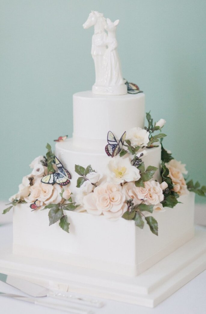 Beautiful butterfly cake - Poto: Elisabeth Millay Photography