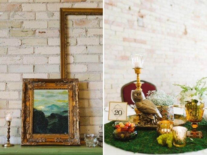 Portarretratos con marcos avejentados para la decoración - Foto T&S Hughes Photography