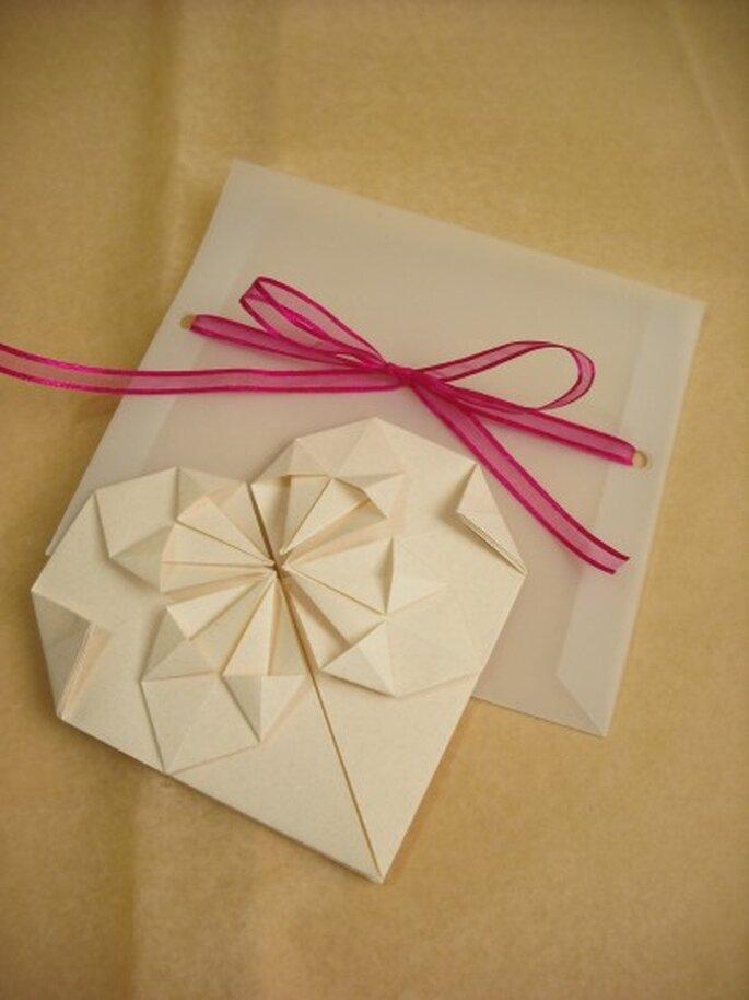 Invitaciones para boda estilo origami