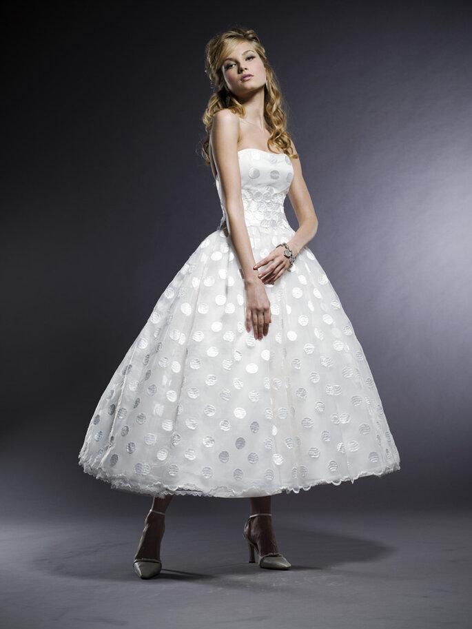 Un abito di Michelle Roth. Foto via weddingwonderland.it