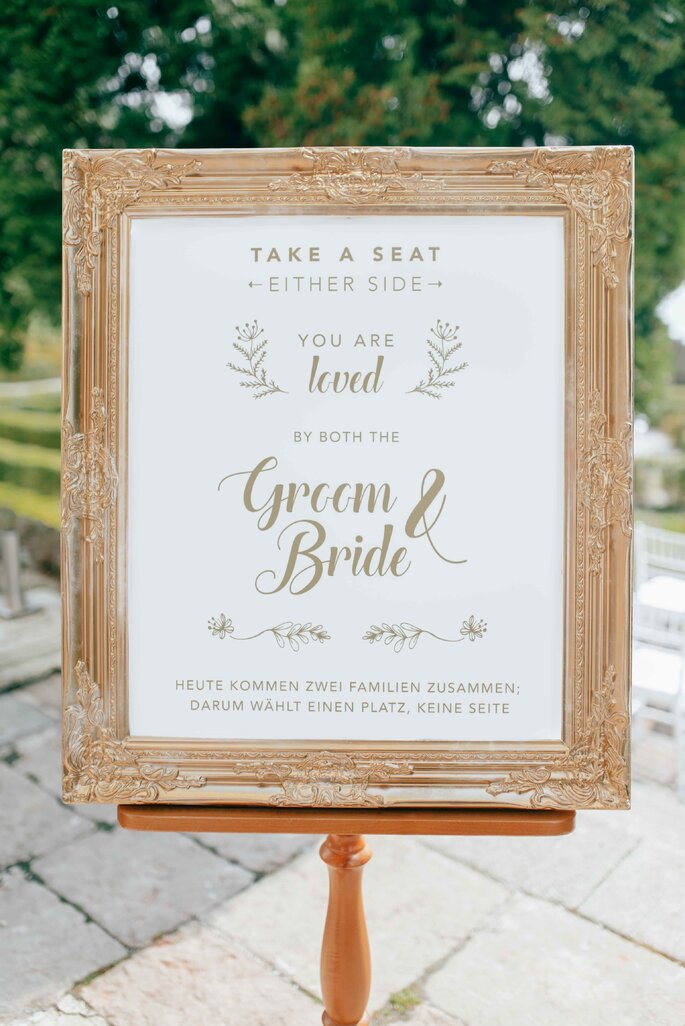 Wedding Sign Willkommen