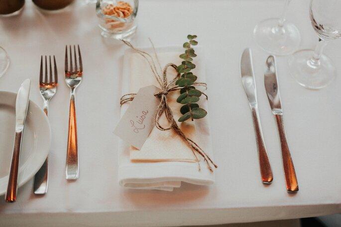 Die Tischdekoration im Boho-Style.