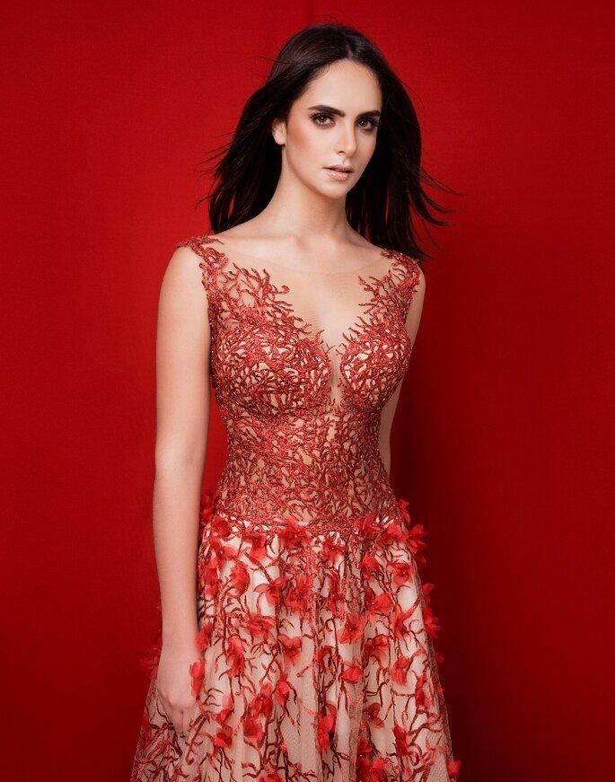 Rosiris Miranda Haute Vestido para invitada Barranquilla