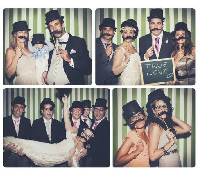 Un photocall para divertirse en la boda.