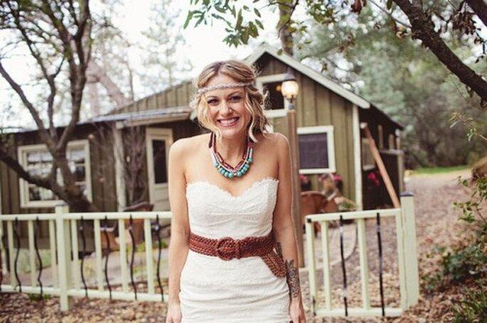 Love and Happiness bei Hippie-Hochzeiten– Foto: Green Wedding Shoes