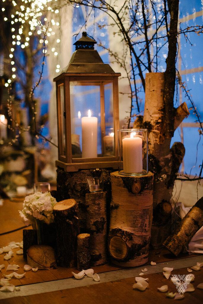 Éléments de décoration chaleureux pour un mariage en hiver