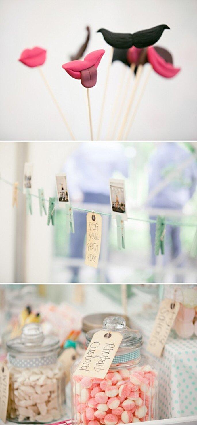 Decora la recepción de tu boda con el color menta - Foto HBA Photography