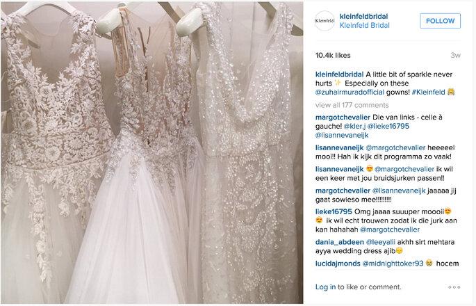 Image via Kleinfeld Bridal Instagram