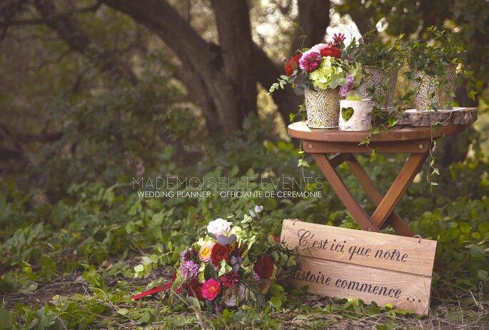 Photo : Romain Mosti / wedding planner Mademoiselle Events