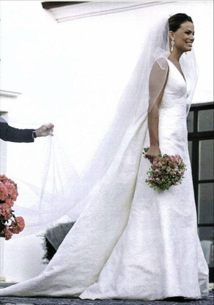 El vestido que llevaba Carla Goyanes la quedaba como un guante y resaltaba su silueta - Revista Hola