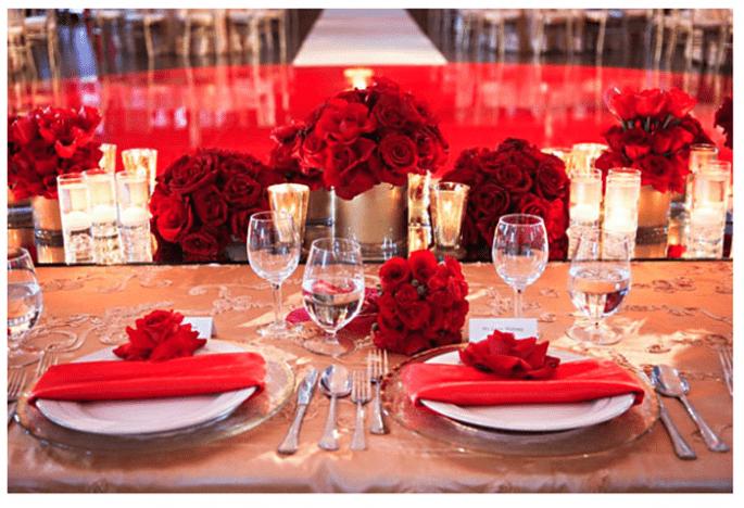 Una boda en color rojo inspirada en San Valentín - Foto Exquisite Events