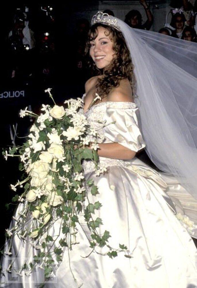 Vestido de novia de Mariah Carey
