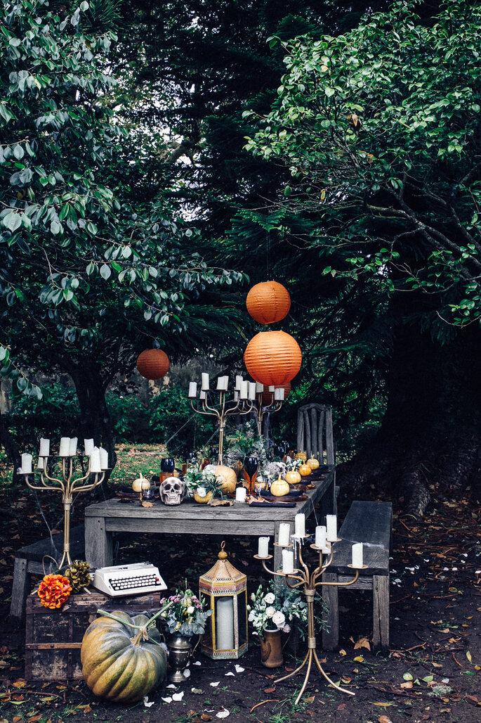 casamento tema halloween