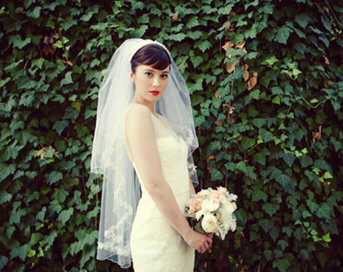 En 2013, on ose le voile de mariée court ! - (C) Mariages chics