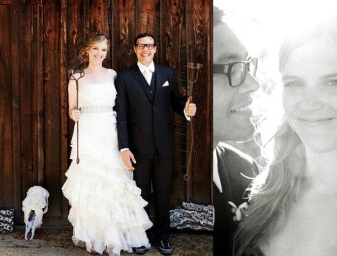 Madera country para boda. Foto de Holly Wilmeth.
