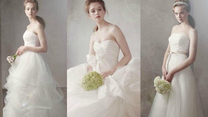 Vestidos de novia de la colección White by Vera Wang. Fotos: www.davidsbridal.com